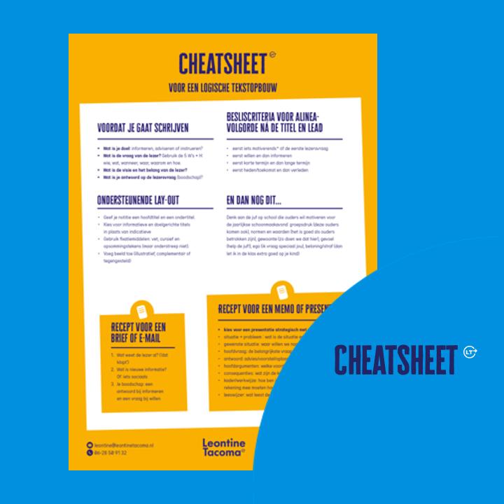 Gebruik deze cheatsheet voor een logische tekstopbouw
